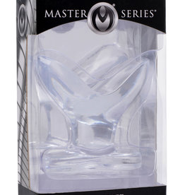 XR Brands Master Series Anchored Clear Anal Plug