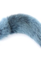 """Touch of Fur 14-17"""" Platinum Fox Dyed Dreamscape on Large Stainless Steel"""