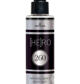SENSUVA Hero 260 Natural Men's Body Mist With Pheromones 4.2 Ounce Spray