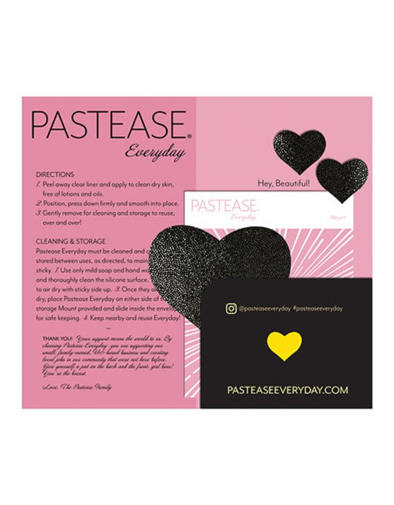 Pastease Pastease Reusable Liquid Heart - Black O/S