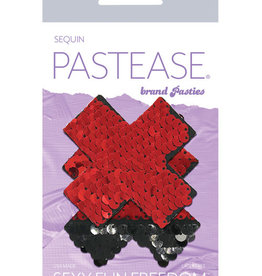 Pastease Pastease Color Changing Flip Sequins Cross - Red/Black O/S