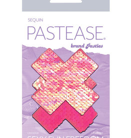 Pastease Pastease Color Changing Flip Sequins Cross - Pink O/S