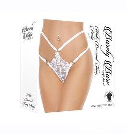 Barely Bare Barely Bare White Diamond Thong Panty - O/S - White