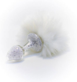 Crystal Delights Crystal Delights Magnetic Sparkle Bunny Tail - White