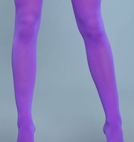 Be Wicked Neon Opaque Nylon Thigh Highs - One Size