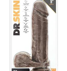 Blush Novelties Dr. Skin - Mr. Magic - 9 Inch Dildo - Chocolate