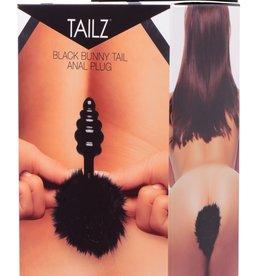 XR Brands Tailz Black Bunny Tail Anal Plug