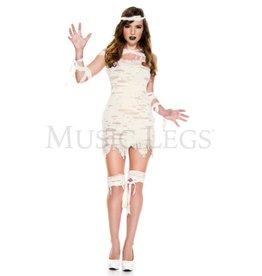 Music Legs Miss Mummy 4PC Costume - XS