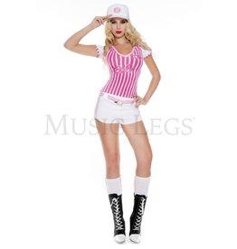 Music Legs Miss Curve Baller 5 PC Costume