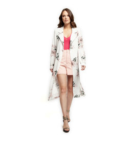 Dex L/SLV LONG OPEN FRONT BLAZER W/SELF BELT