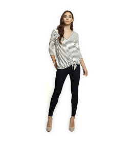 Dex 3/4 SLV V-NECK SIDE TIE TOP