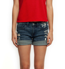 L-WOVEN SHORT_5 PKT BASIC_EMBROIDERED & BEADED