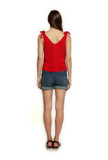 Dex L-WOVEN SHORT_5 PKT BASIC_EMBROIDERED & BEADED