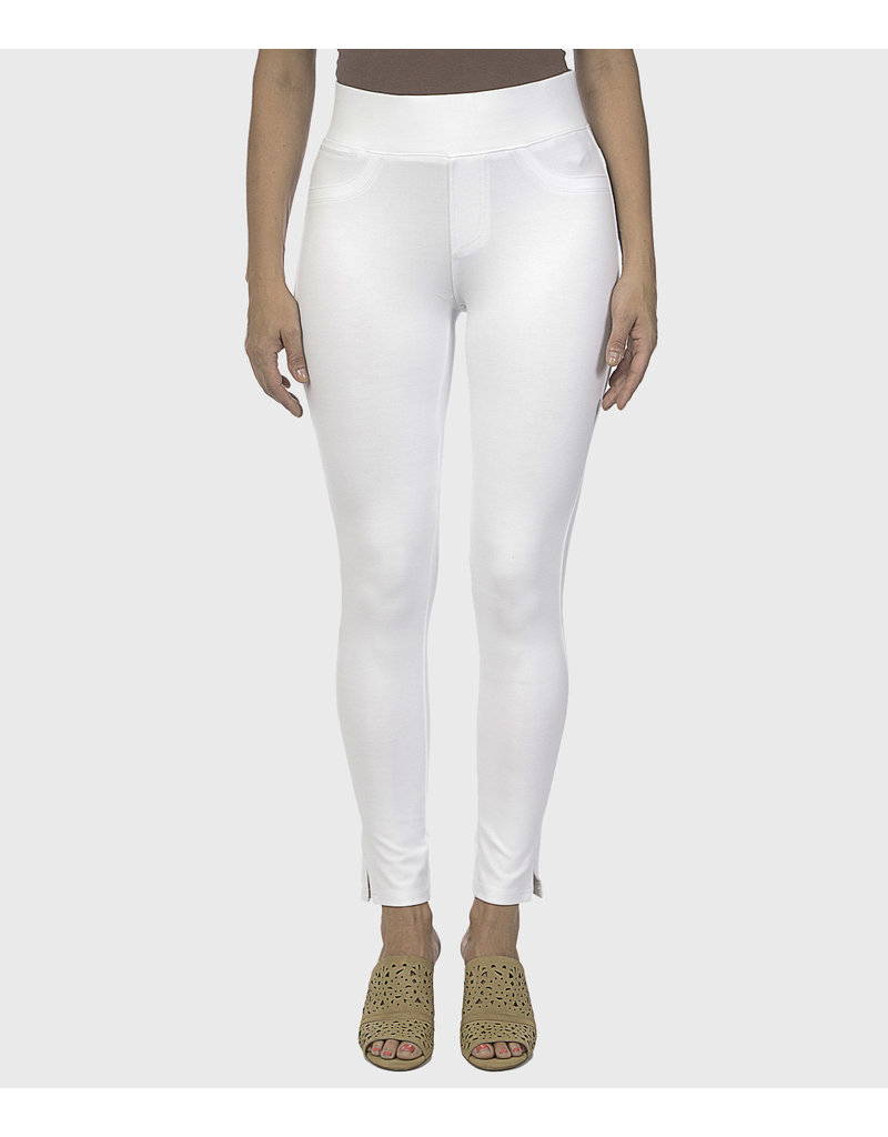 lola Anna Mid Rise Pull on Pant with Skinny Ankle