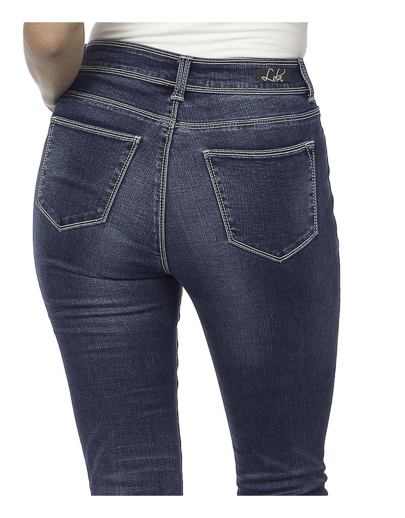 lola High Rise Straight Jean Kate