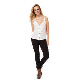 Dex SPAGETTI STRAP BUTTON FRONT TANK TOP