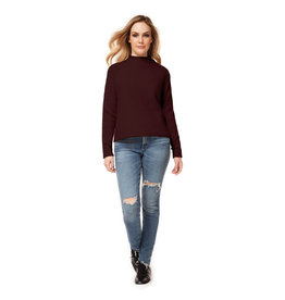 Dex L/SLV MOCK NECK SWEATER W/ SIDE SLIT