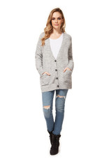 Dex L/SLV SWEATER CARDIGAN W/ PKTS