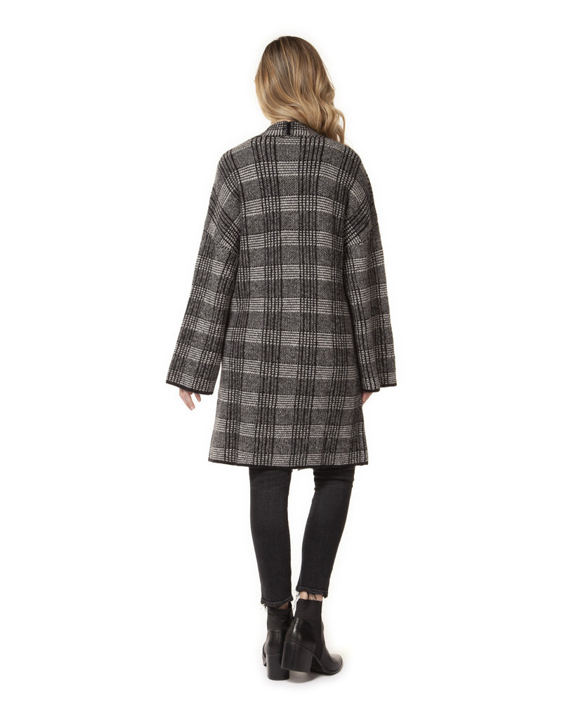 Dex L/SLV OPEN CARDIGAN WITH PATCH POCKET