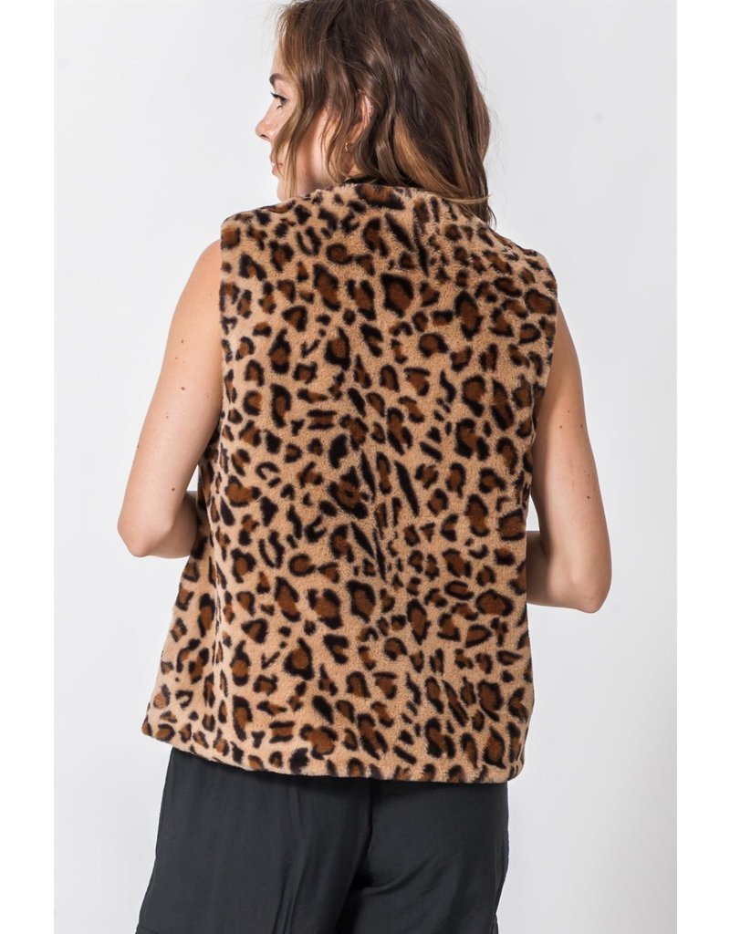 Spotted Gecko Cheetah Cropped Vest