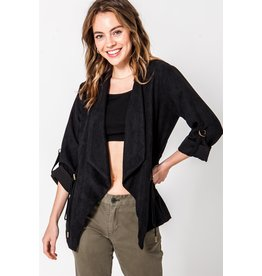 Spotted Gecko Black Waterfall Lightweight Cardigan or Jacket