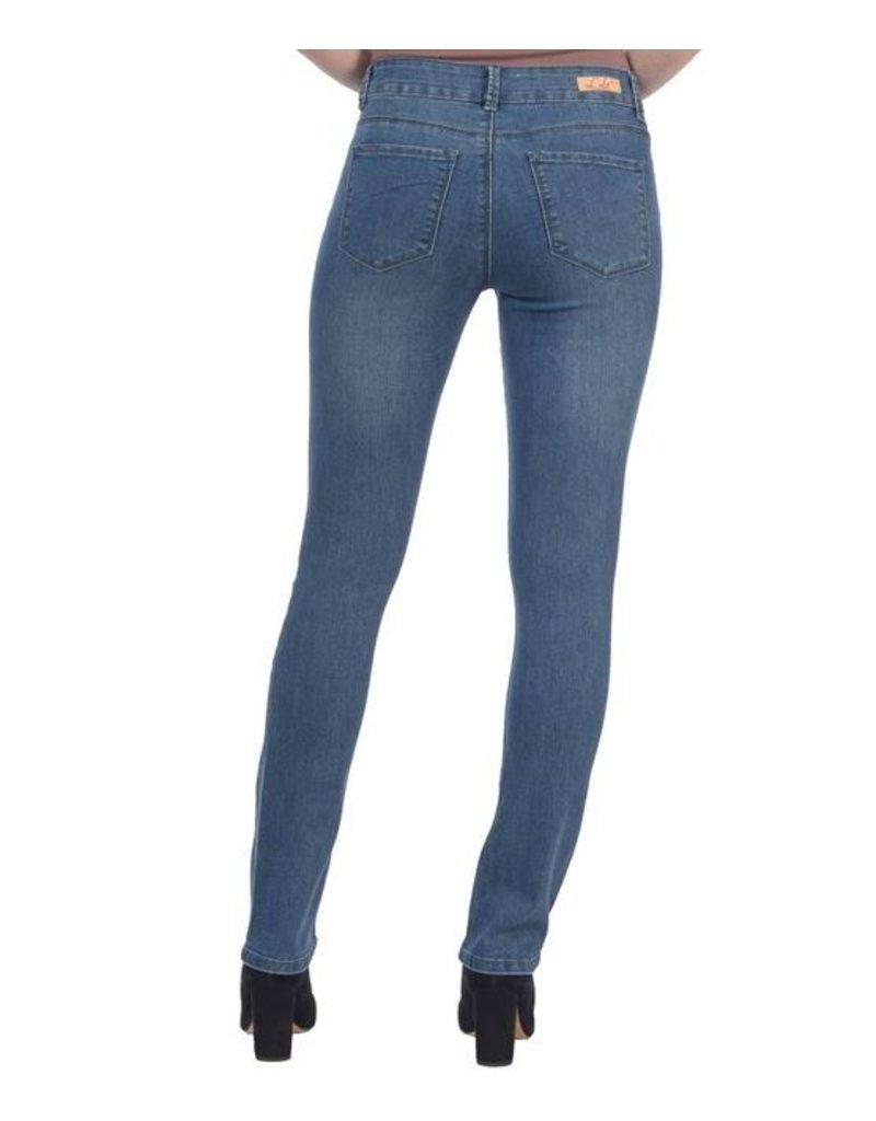 lola Kristine Mid Rise Straight Jeans