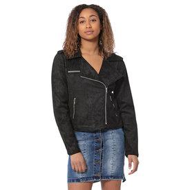 lola Jeanette Moto Faux Suede Jacket
