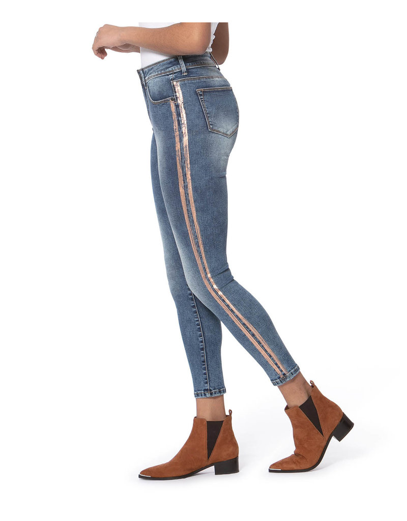 lola Alexa High Rise Skinny Jeans STRIPES