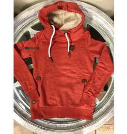 Wanakome Earhart Poppy Pullover Hoodie With Sherpa Hood