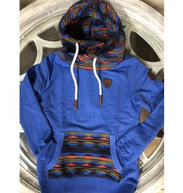 Wanakome Freya Aztec  Blue Ladies  Hoodie Dark Green