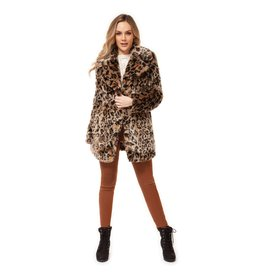 Dex Faux Fur Leopard Coat