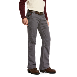ARIAT® ARIAT WORK PANTS - M5 SLIM STRETCH DURALIGHT CANVAS STACKABLE STRAIGHT LEG PANT GRY