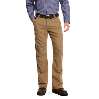 ARIAT® ARIAT WORK PANTS - M5 SLIM STRETCH DURALIGHT CANVAS STACKABLE STRAIGHT LEG PANT KHAKI
