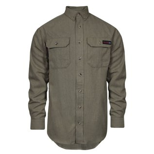 NSA® NSA WORK SHIRT - 5.5 OZ TECGEN BUTTON DOWN TAN