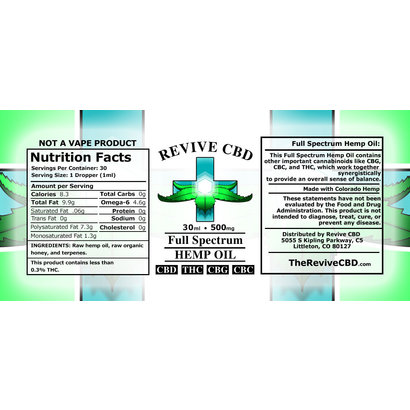 Revive CBD 30mL CBD Oil w terpenes (Full Spectrum)