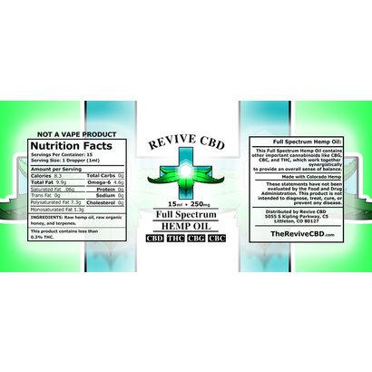Revive CBD 15mL CBD Oil w terpenes (Full Spec)