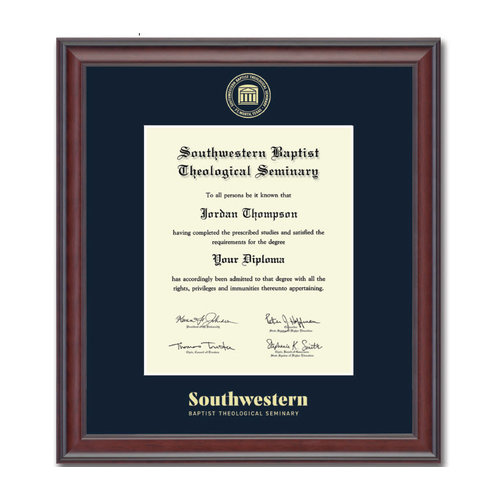 SWBTS Diploma Frame
