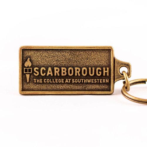 Scarborough Keychain in antique brass finish