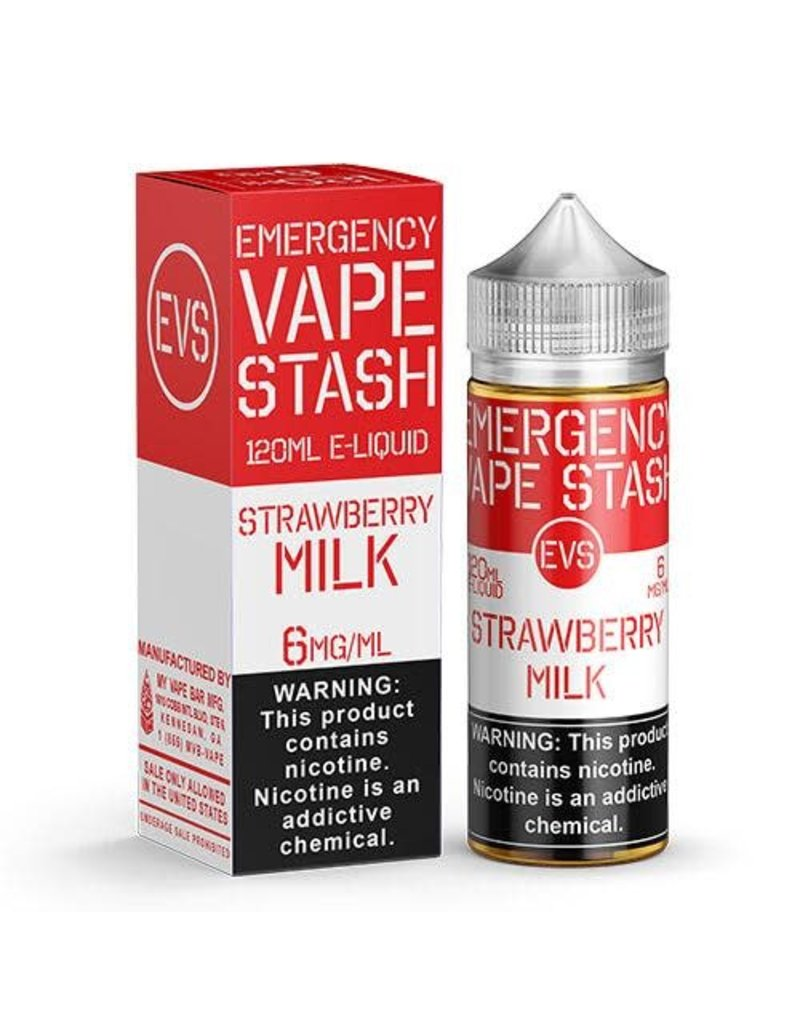 Emergency Vape Stash Strawberry Milk 120mL