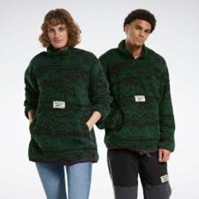 REEBOK Reebok Reversible Sherpa Half-Zip (Utility Green)