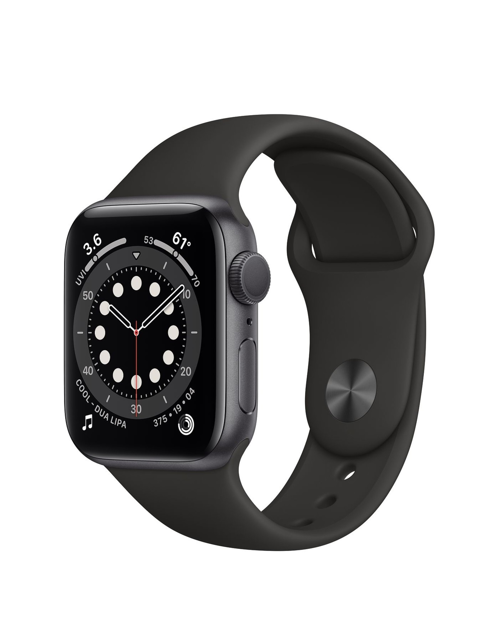 Apple WATCH SERIES 6 GPS - 44MM SPACE GRAY ALM CASE BLACK SPORT BAND
