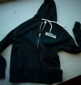 Shop Hoodie MED Zip Black TBSM