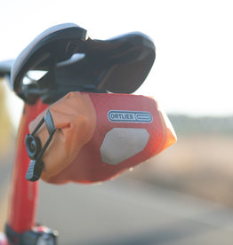 Red/Orange Saddle Bag: , ORTLIEB MICRO