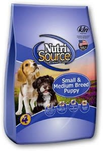 Nutrisource NutriSource Small and Medium Breed Puppy Chicken and Rice Dog Dry 15lbs Product Image
