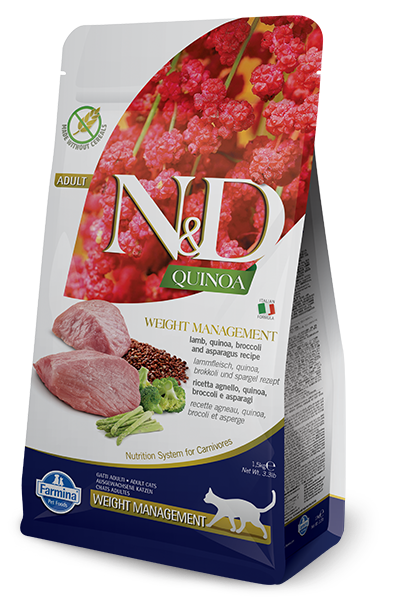 Farmina Farmina N&D Quinoa Weight Management Lamb Cat Dry 3.3# Product Image