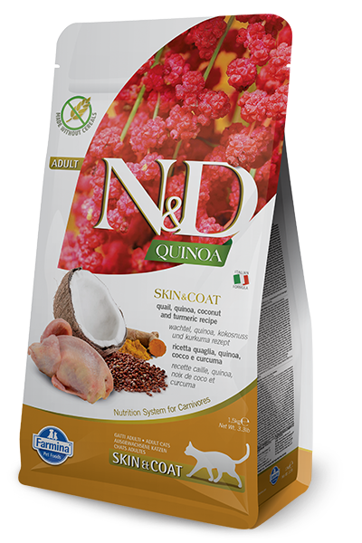 Farmina Farmina N&D Quinoa Skin and Coat Quail Cat Dry 3.3lbs Product Image