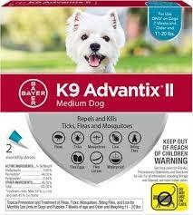 Bayer Healthcare ADVANTIX II Dog Medium 11 - 20 lbs. 4pk Product Image