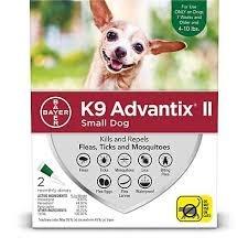 Bayer Healthcare ADVANTIX II Dog Small 4 - 10 lbs. 4pk Product Image