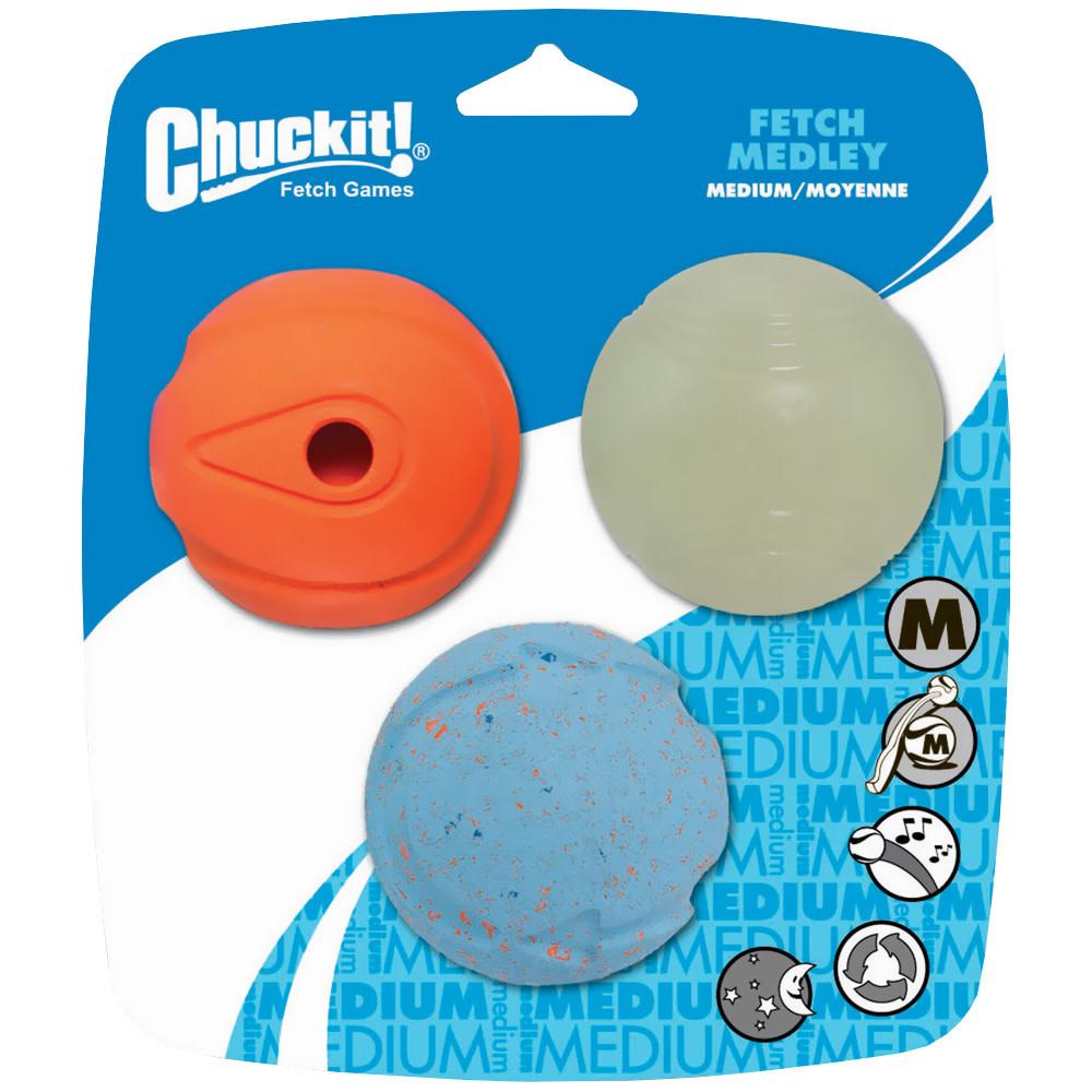 Chuckit! Chuckit!  Fetch Medley Medium 3 Pack Product Image