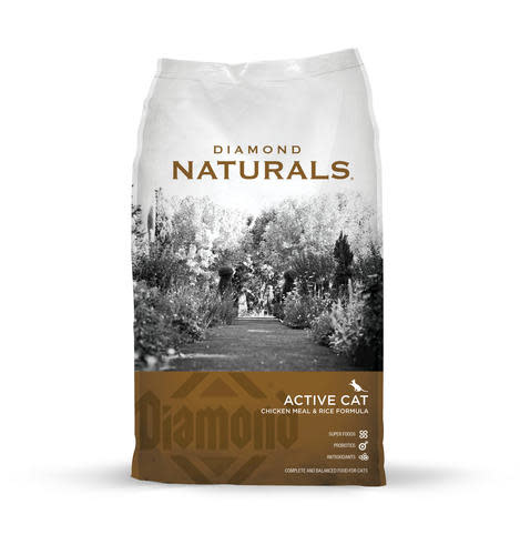 DIAMOND PET FOODS Diamond Naturals Active Chicken Meal and Brown Rice Cat Dry 18lbs Product Image